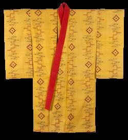 ロイヤルカラーの黄色地衣裳